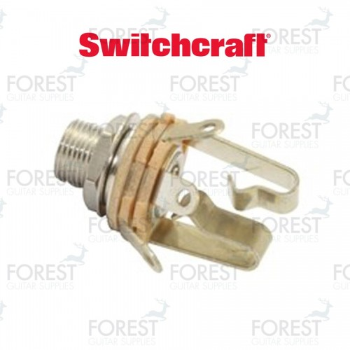 """Switchcraft ® SCL12B Jack stereo input 1/4"""" inch, extra long thread"""