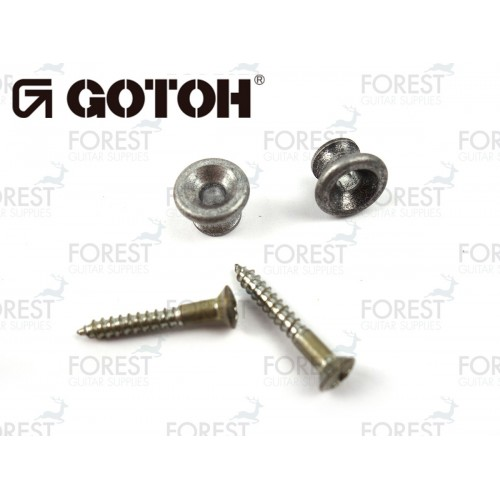 Gotoh strap pin EPA1 Gibson ® style, Set of 2, Aged chrome-Relic series
