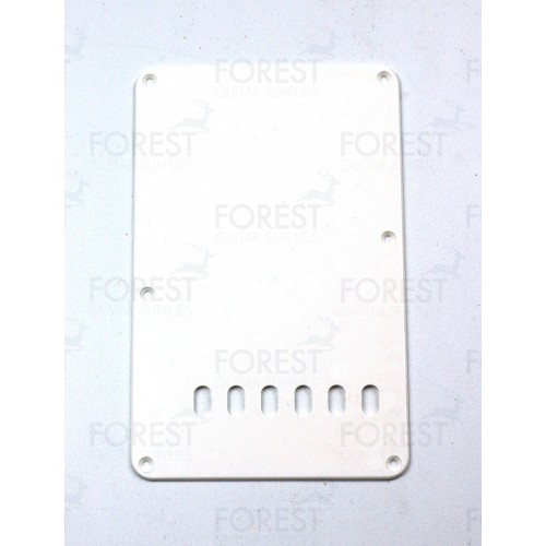 Fender Stratocaster ® aftermarket back spring cover plate white ABS, with holes
