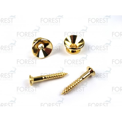Guitar strap pins pair, gold finish HE009