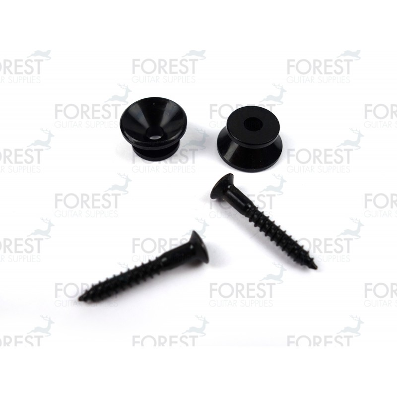 Guitar strap pins pair, black finish HE009