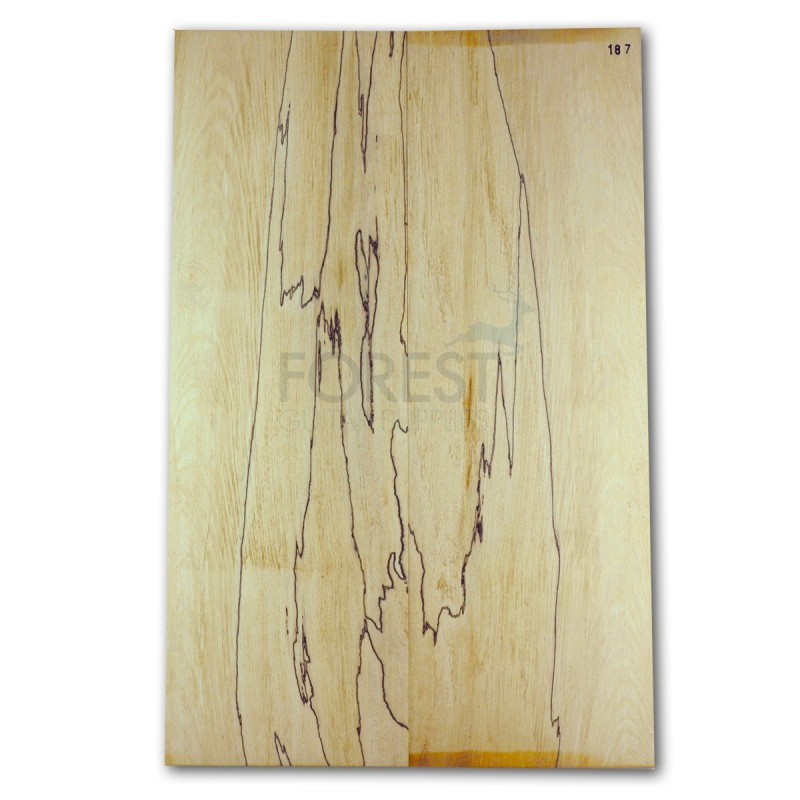 Guitar top bookmatched Spalted maple 4A grade, unique stock 187