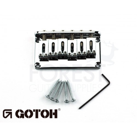 Gotoh Hardtail fixed bridge GTC102 Fender Tele or Strat ® style guitar, Steel saddle, Chrome