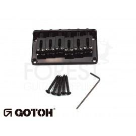 Gotoh Hardtail fixed bridge GTC102 Fender Tele or Strat ® style guitar, Steel saddle, black