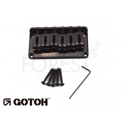 Gotoh Hardtail fixed bridge GTC102 for ST or TL style guitar, Steel saddle, black