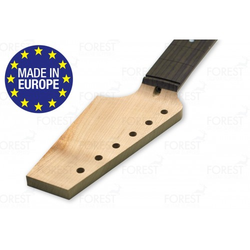 TL style electric guitar neck QS Hard maple / Indian Rosewood fretboard, Paddle head, 9.5 radius