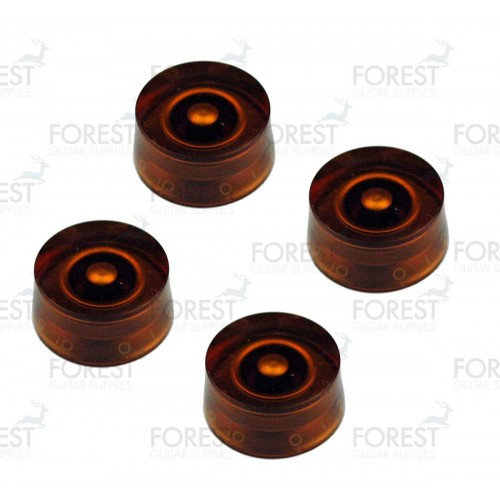 Gibson Epiphone speed style guitar knob 4 set amber / white letters, metric