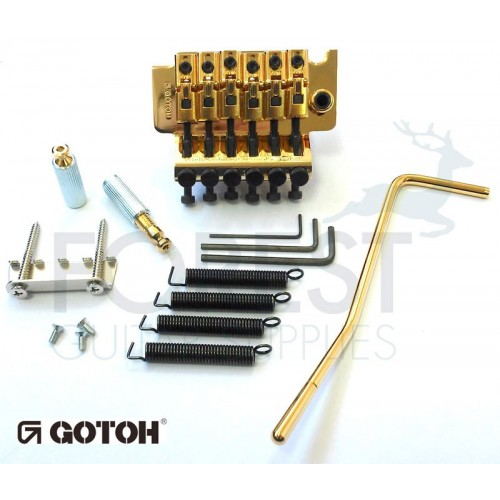 Gotoh GE1996T Floyd Rose® licensed Locking tremolo bridge, gold