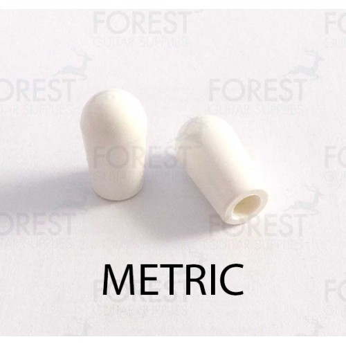 Gibson Epiphone LP ® toggle switch tip white metric