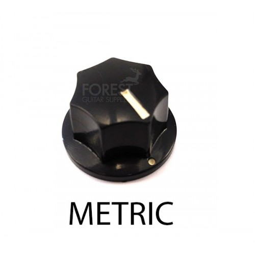 Fender Jazz Bass ® aftermarket small knob style black metric shaft