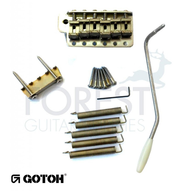 Gotoh GE101TS Tremolo bridge Fender Stratocaster® vintage style, aged  chrome RELIC, steel block
