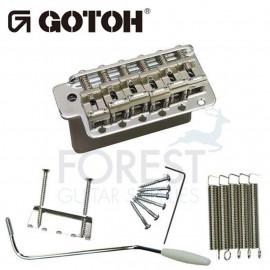 Gotoh GE101TS Tremolo bridge for ST guitar vintage style, chrome, STEEL BLOCK