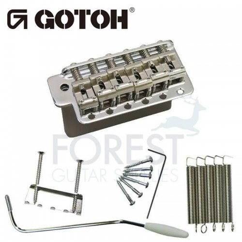 Gotoh GE101TS Tremolo bridge Fender Stratocaster® vintage style, chrome, steel block