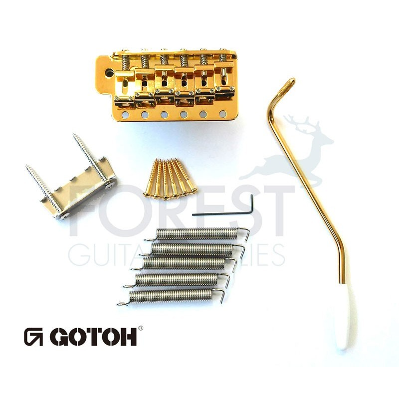Gotoh GE101TS Tremolo bridge Fender Stratocaster® vintage style, gold,  Steel block