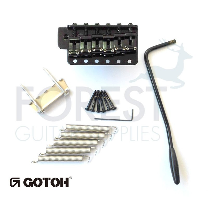 Gotoh GE101TS Tremolo bridge Fender Stratocaster® vintage style, black,  Steel block