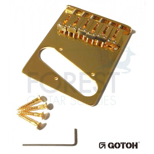 Gotoh GTC201 Telecaster® style bridge, brass saddle, gold
