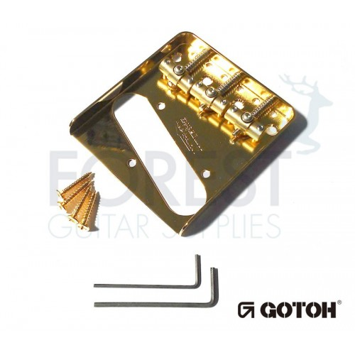 Gotoh WT3 Wilkinson® Telecaster® ashtray style bridge, brass saddle, gold