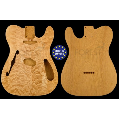Telecaster ® THINLINE 69 s Body Electric guitar book matched quilted maple top & Honduras Mahogany, unique