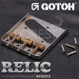 GOTOH ashtray Fender Telecaster ® style guitar Bridge BS-TC1 Aged Chrome - RELIC series