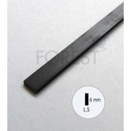 Guitar Binding material black ABS plastic 6 x 1.5 mm