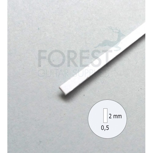 Guitar Binding material white ABS plastic 2 x 0.5 mm