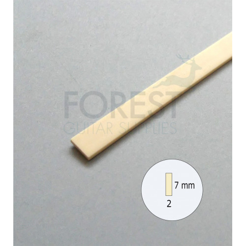 Guitar Binding material Ivory ABS plastic 7 x 2 mm