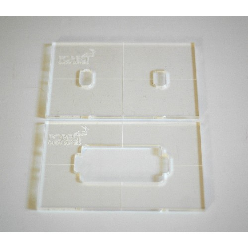 Humbucker pickup acrilic routing template, set of 2