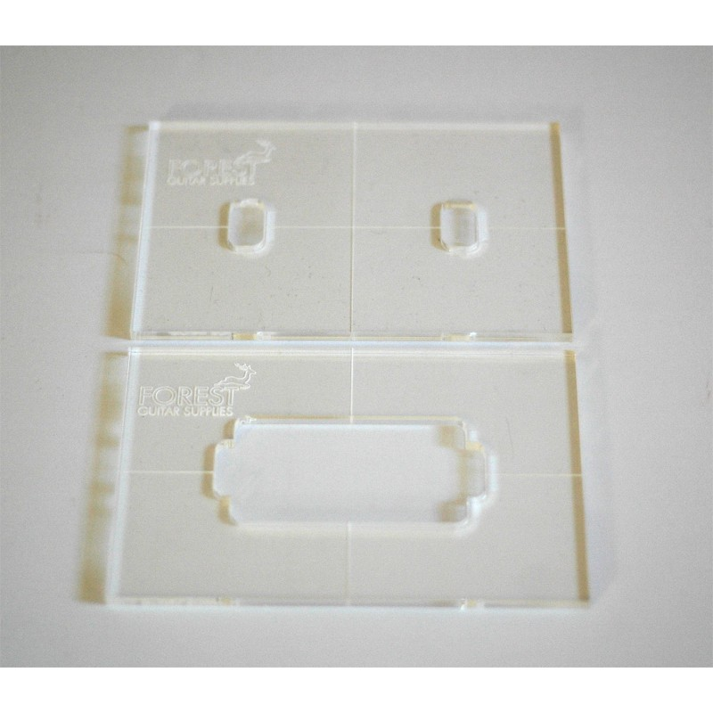 Humbucker Pickup Routing Template  Set Of 2
