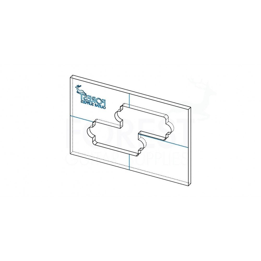 fender precision bass pickup acrylic routing template