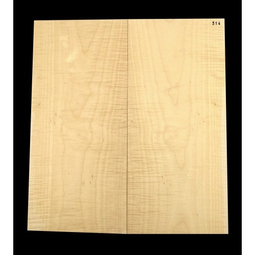 Guitar top bookmatched Flamed/ curly maple 4A grade, unique stock 314