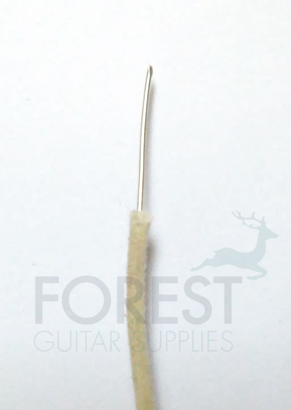 White cloth covered guitar wire AWG22 vintage style, 1 metre (3.28 feet)