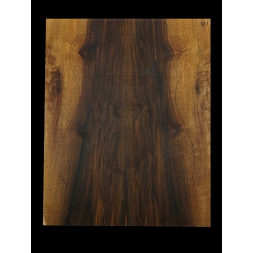 Electric guitar bookmatched figured Spanish walnut, stock 331 drop top