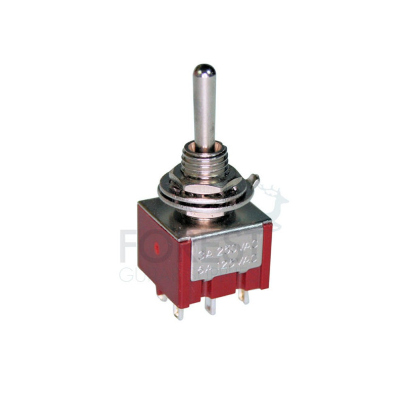 dpdt mini toggle switch 3 position on