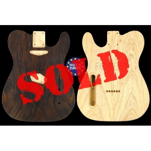 Telecaster Rear routed Body Electric guitar bookmatched Imbuia top / Swamph Ash, unique