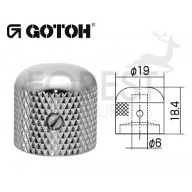 Gotoh VK1-19 dome metal Knob chrome 19 mm