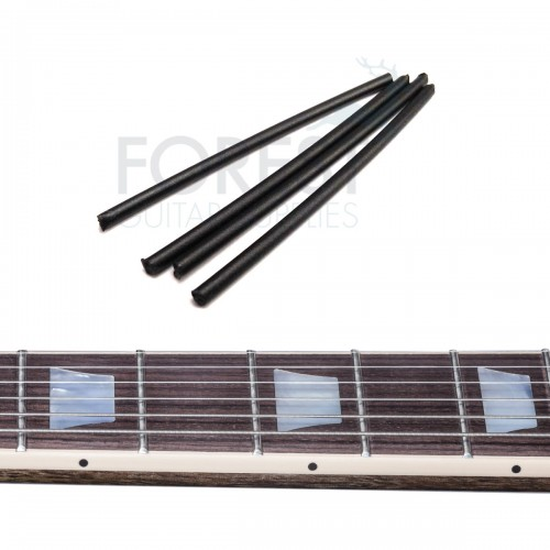 Guitar neck side dot ABS plastic Black 2mm - 4 rods x 50 mm