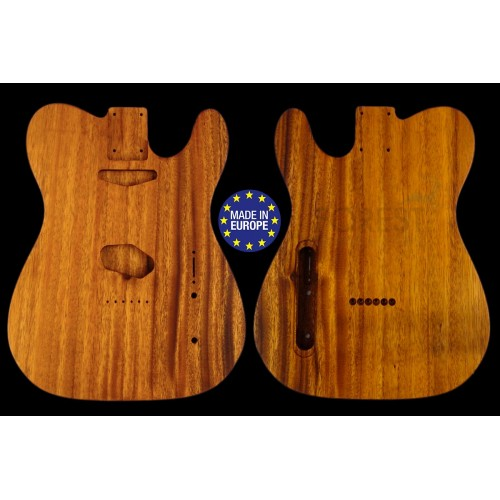 TL rear routed style electric guitar body 1 piece Monkeypod, unique