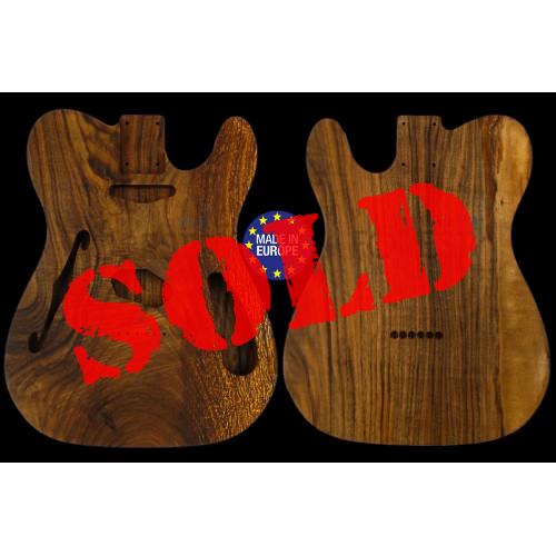 Tele THINLINE 69s style electric guitar body 1 highly figured Spanish walnut piece, unique