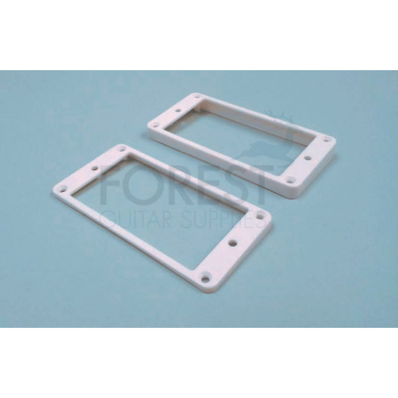Pickup mounting ring curved bottom, frame, white set of 2 neck and ...