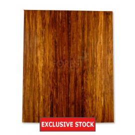 Electric guitar bookmatched drop top Etimoe wood stock 395 unique top