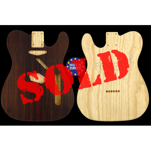 Telecaster ® 50 s Body Electric guitar bookmatched Indian Rosewood / Swamp Ash, unique