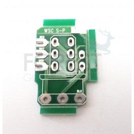 PCB circuit board for Push/pull guitar potentiometer, Serial / Parallel