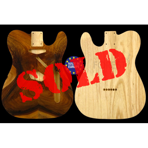 TL 50s style electric guitar body figured Walnut top / Swamp Ash, unique