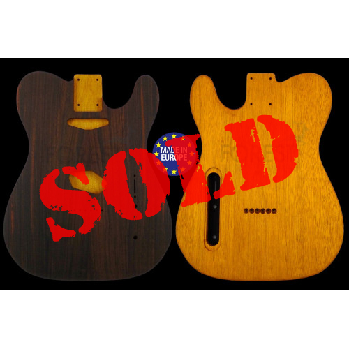 Telecaster ® Rear routed Body Electric guitar book matched Indian Rosewood top / Honduras Mahogany, unique