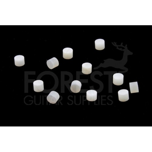 Guitar neck side dots 2mm real white mother of pearl set of 13