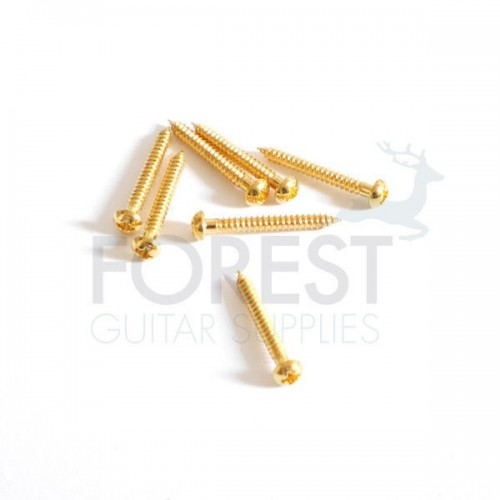 Single coil pickup screw round head gold 3x25mm