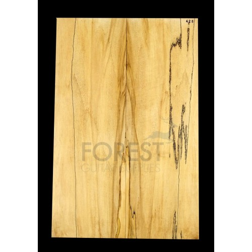 Guitar top bookmatched Spalted maple 4A grade, unique stock 428