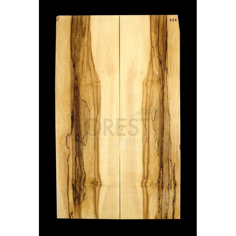 Guitar top bookmatched Spalted maple 4A grade, unique stock 430