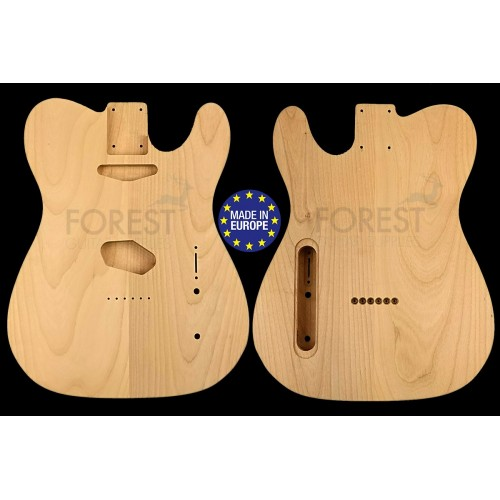 TL rear routed style electric guitar body 2 pieces American Alder, unique