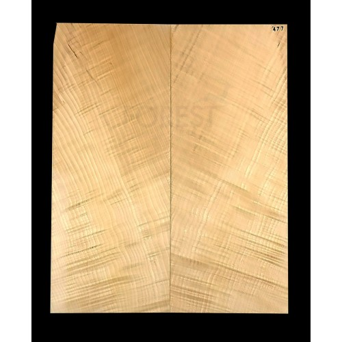 Guitar top bookmatched Flamed/ curly maple 4A grade, unique stock 477